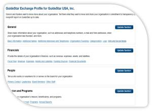 New and improved GuideStar Exchange form