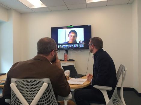 Using video chat for our meeting.